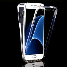 Clear TPU Front + Back 360° Full Body Protective Case Cover For Samsung Galaxy