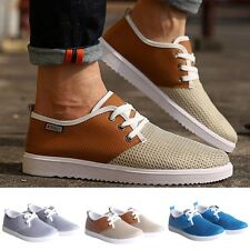 Fashion Mens Breathable Mesh Canvas Loafer Casual Sneakers Flat Athletic Shoes