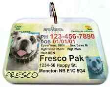 Brunswick CANADA drivers license dog cat custom novelty pet tag by ID4PET
