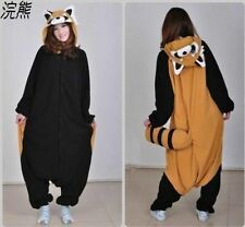 Adult Kigurumi Pajamas Anime Cosplay Costume Onesie Sleepwear Raccoon Dress