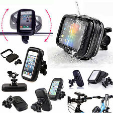 Waterproof Bicycle Motor Bike Bag Case Handle Bar Mount Holder For Mobile Phones