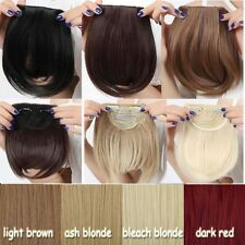 Real Natural Hair Extension Clip In Front Hair Bangs Fringe human Thick Hair fs6