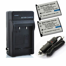 New Battery / Charger for Olympus FE-320, FE-340, FE-350, FE-360 Digital Camera