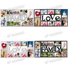 FAMILY LOVE PHOTO PICTURE FRAME HOLDS 10 PHOTOS APERTURE MULTI COLLAGE