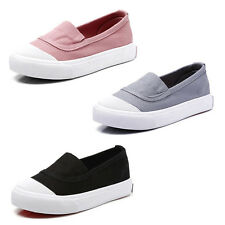 Kids shoes Girls canvas shoes flat casual shoes rubber soles slip-on shoes
