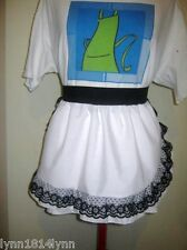 1/2 APRONS WITH LACE OVER TRIM ALL COLORS MADE TO ORDER CAN B PERSONALISED