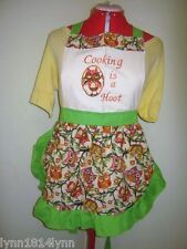 KIDS/GIRLS OWL COOKING IS A HOOT (Party Pini) APRON Other tops avaiable