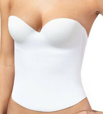 NWT Bridal Bustier Wedding Prom Molded Corset Push Up Slimming Seamless Bra Wht