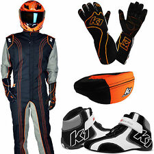 K1 - GK2 Level 2 Karting Package - Kart Racing Suit Gloves Neck Brace and Shoes!