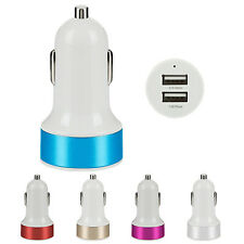 Car Charger Adaptor Bullet Dual USB 2-Port for iPod iPhone 4 5S WS