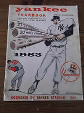 1963 NEW YORK YANKEES YEARBOOK-4/8 ROSTER-NM CONDITION