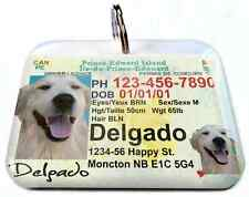 Prince Edward driver license CANADA dog driver cat pet driver id tag PHOTO ID