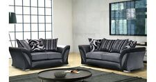 NEW FARROW LEATHER & FABRIC 3+2 SEATER  BROWN BEIGE,BLACK GREY BRAND NEW SOFA