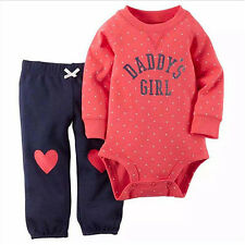 Baby Girls Dots Bodysuit Print Pants Long Sleeve Rompers Clothes Set Sweet
