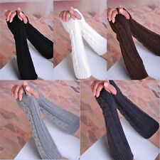 New Lady Women Arm Warmer Long Fingerless Knit Mitten Winter Gloves Hot 26