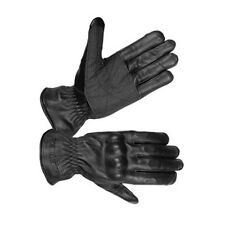 HUGGER Tactical Military Police Riot Gloves Hard Knuckle Airsoft Black Leather