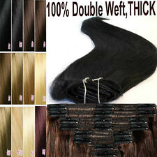 160g 180g Thick Double Weft Clip In Remy Human Hair Extension DIY Full Head L882