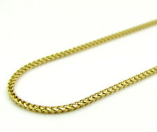 """10K Yellow SOLID Gold Diamond Cut Franco Chain Necklace - 1.10MM Size 16""""-22"""""""