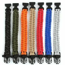Outdoor Camping Survival SOS Whistle Paracord Reflect Bracelet EDC Emergency