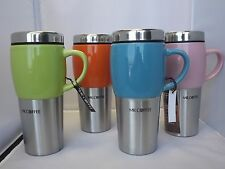 Mr. Coffee Ceramic Stainless Steel Insulated Travel Mug 16 oz. LIMITED COLORS #