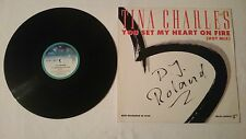 """12"""" Maxi RECORD Tina Charles you set my heart on fire ( Hot Mix ) Very good"""