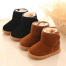 Infant Toddler Baby Kids Boots Winter Warm Fur Lining Thick Snow Boots Fur Shoes