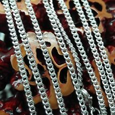 """Wholesale Lateral chains Silver Plated 1 5 10pcs 2mm 16-24"""" necklace 10PCS/LOT"""