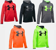 Under Armour Boys UA Storm Fleece Highlight Big Logo Hoodie Many Colors And Size