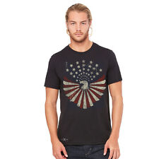 American Bald Eagle Men T-shirt Patriotic 4th of July American Flag Tees