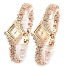 Fashion Women Alloy Crystal Quartz Rhombus Bracelet Bangle Wrist Watch 1pcs Hot