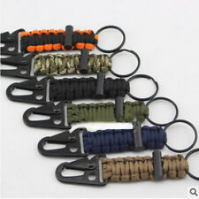 Firefighter Paracord Survival Lanyard Keychain With HK Hook Tactical Keyring New