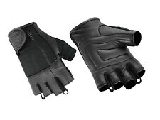Hugger Fingerless Motorcycle Gloves Men's Summer Touring Choppers Gel Palm