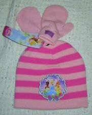 NWT Toddler Girls DISNEY PRINCESS Beanie Hat & Mittens Set -One Size 2T 3T 4T 5T