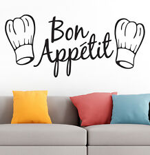 Bon Appetit Kitchen Art Wall Quote Vinyl  Stickers Cafe Home Dining Room Decal