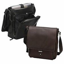 Columbia Leather Laptop Computer Vertical Messenger Bag - A6113