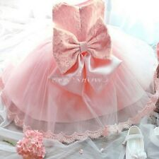 Flower girls dreamy dress With Big Bow Princess Prom Party Wedding 3-24 Months