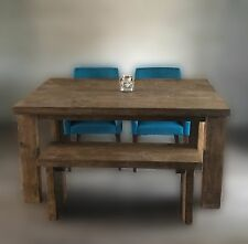 Reclaimed Timber Dining Table with or without bench seating