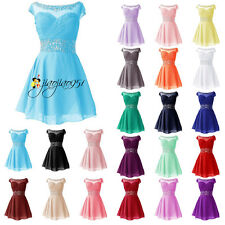 Stock Formal Short Evening Bridesmaid Dress Ball Prom Party Homecoming Gown 6-20