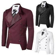 COOFANDY Men Casual Stand Neck Double-breasted Slim Fit Blazer Jacket CO99