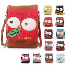 Big Handbag Shop Kids Owl Face Mini Cross Body Messenger Mobile Pouch Purse