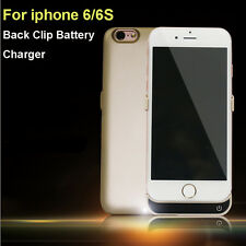 """3000mAh External Power Bank Back Clip Battery Case Cover Charger iPhone 6S 4.7"""""""