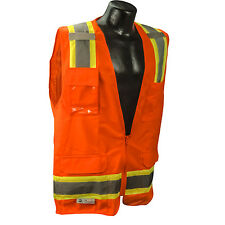 Radians SV6O Class 2 Orange Two-Tone Surveyor Safety Vest *Free US Shipping