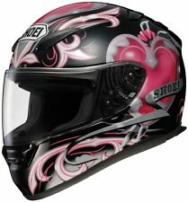 Shoei RF-1100 Motorcycle Helmet - Corazon Black/Pink