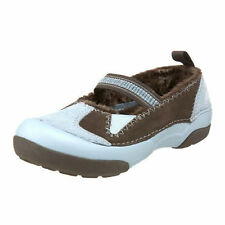 Girls Crocs Dawson Mary Jane Sky Blue/Chocolate Slip On Shoes