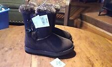 "GIRLS BROWN ""DANNIE"" CHEROKEE FAUX FUR LINED BOOTS NWT SIZE 11 TODDLER / GIRLS 3"