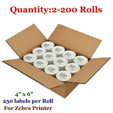 2-200 Rolls 4x6 Direct Thermal Shipping Labels 250/Roll Zebra Eltron 2844 ZP450