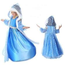 Disney FROZEN Princess Anna Elsa Queen Girls Cosplay Costume Party Formal Dress#