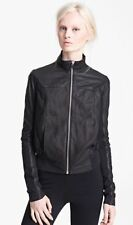 $3700 NWT Rick Owens Leather Drape Back Bomber Jacket 42IT / 8GORGEOUS !!