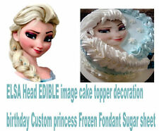FROZEN ELSA Head Edible Image 3D PRE-CUT Edible Frozen head