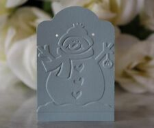 "2""x3"" Snowman Embossed Earring Cards, Jewelry Cards, Retail Display Cards - NEW"